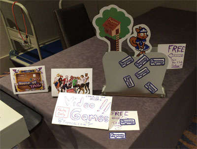 display at furry weekend atlanta dealer den 2014 of fupoco magnet embroidery giveaways