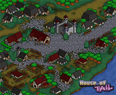 House of Tail town map
